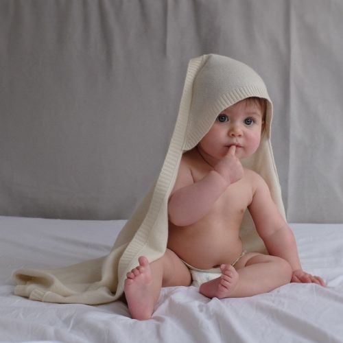 Cashmere Hooded Baby Blanket